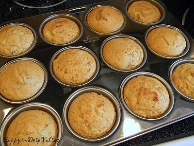 Happy in Dole Valley: Muffin Monday - Hazelnut Pear Muffins