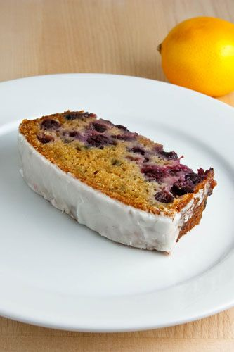 Lemon Yogurt Cake with Blueberries, uses 1 c yogurt, 3 eggs