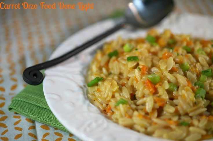 ... way to get more veggies in -Carrot Orzo Risotto www.fooddonelight.com