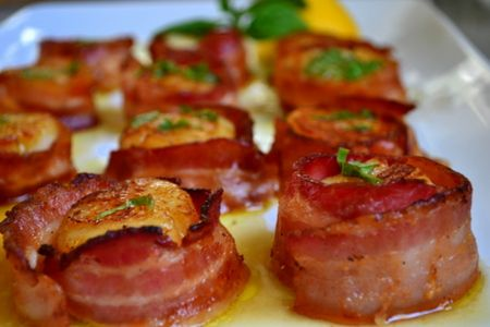 Team Traeger | Seared Bacon-Wrapped Scallops With Lemon-Basil ...