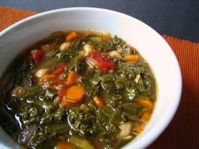 Kale and Chickpea Soup | 30 Day Greenpocalypse Challenge! | Pinterest