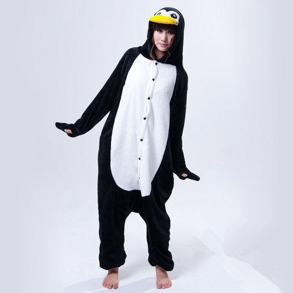 Penguin onesie unisex adult anime kigurumi pajamas by modestluxury