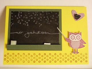 """Geburtstagskarte mit dem Stampin up Set """" Owl Occasions """""""