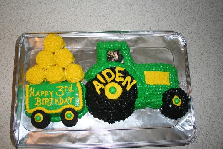Tractor cake birthday boy ideas Pinterest