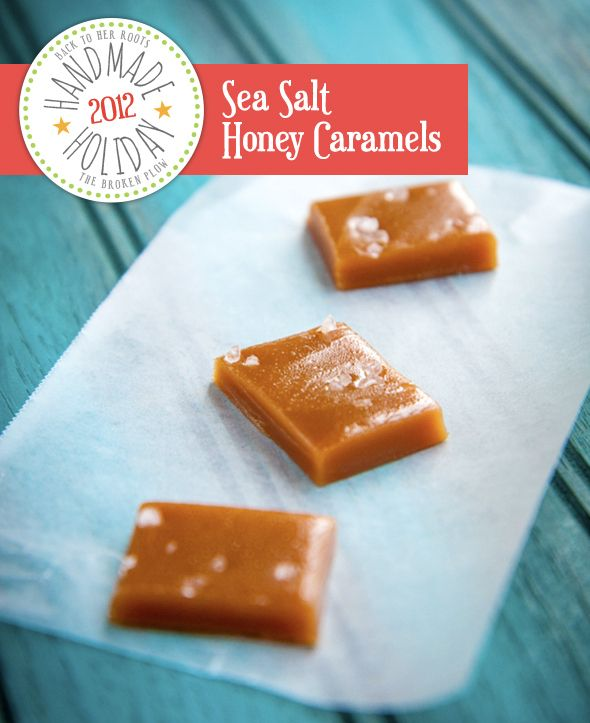 sea salt honey caramels- these would package nicely into my endless ...