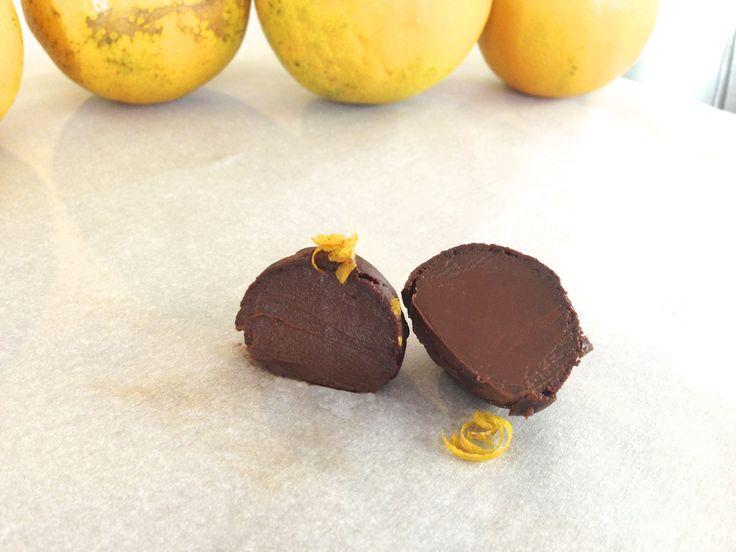 Dark Chocolate Orange Truffles – paleo, dairy free, low carb