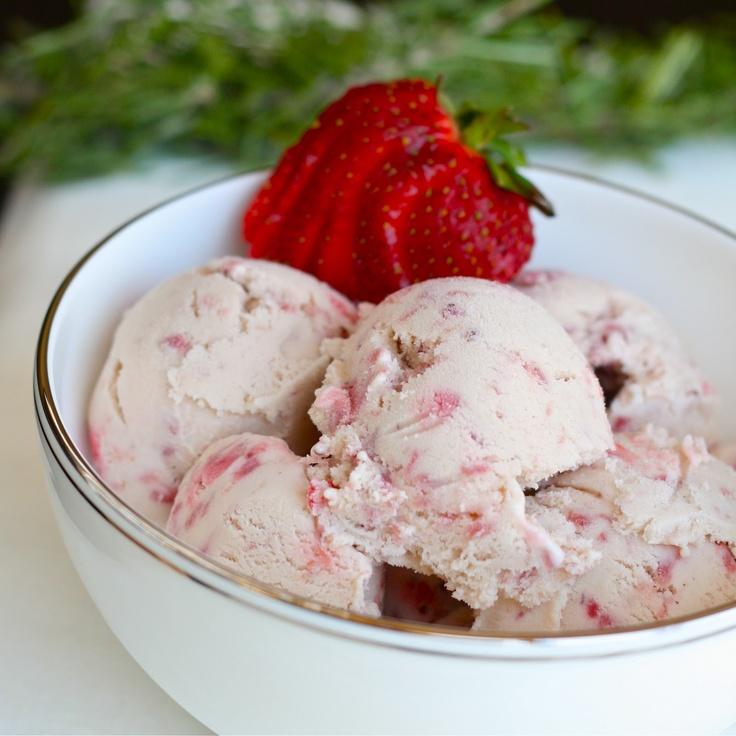 Roasted strawberries, Balsamic vinegar, and rosemary...in ice cream ...