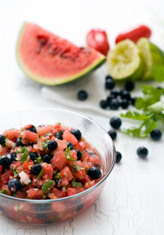 Interesting ... ----> watermelon blueberry salsa