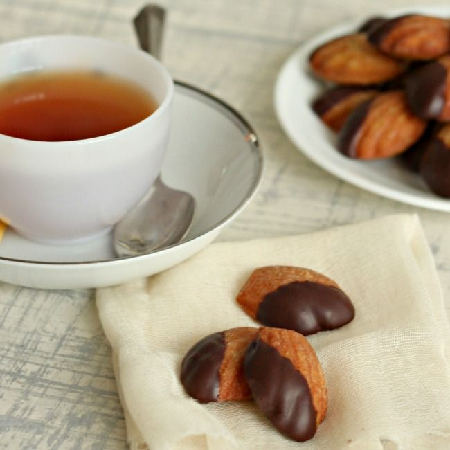 Dipped Earl Grey Madeleines Madeleines are a lovely little Tea ...
