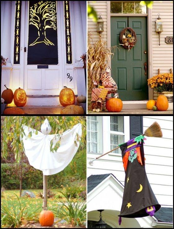 Show me crafting outdoor halloween decor ideas via for Pinterest halloween outdoor decorations