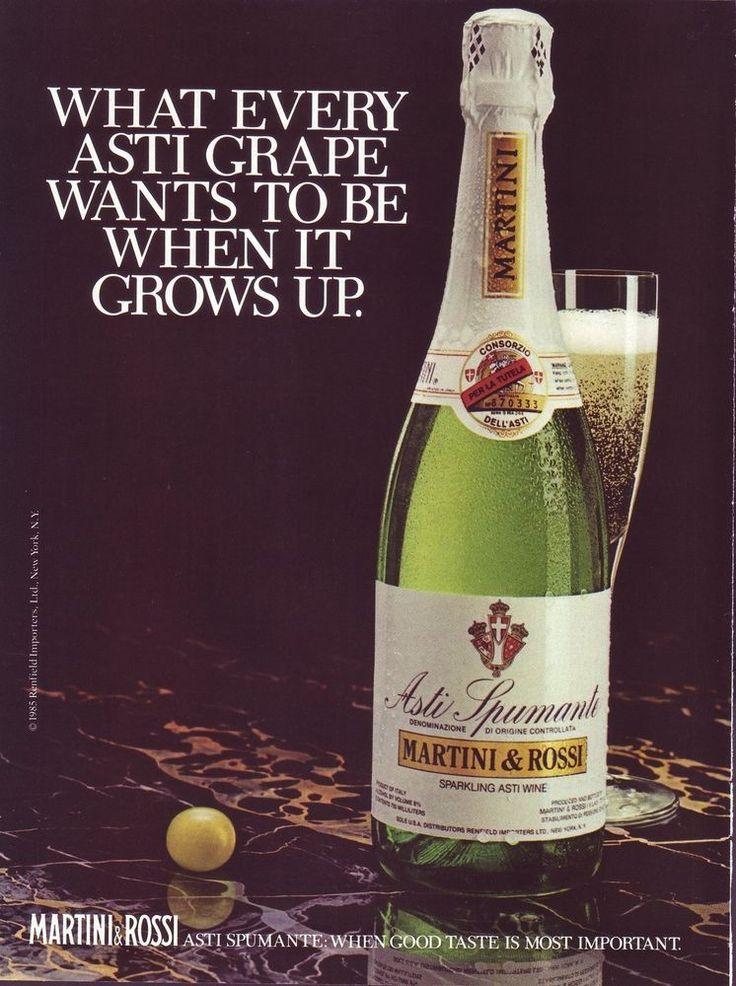 Vintage 1985 print ad for Martini & Rossi asti spumante ...