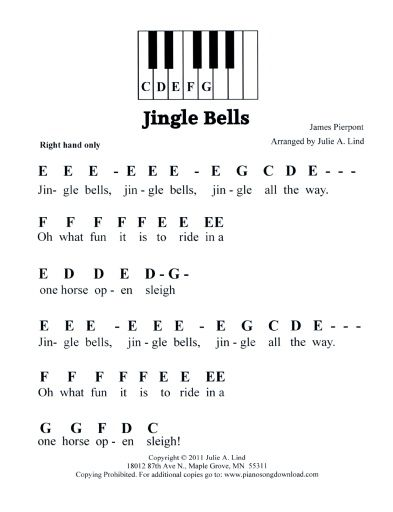 related pictures jingle bells piano sheet music with letters Car ...