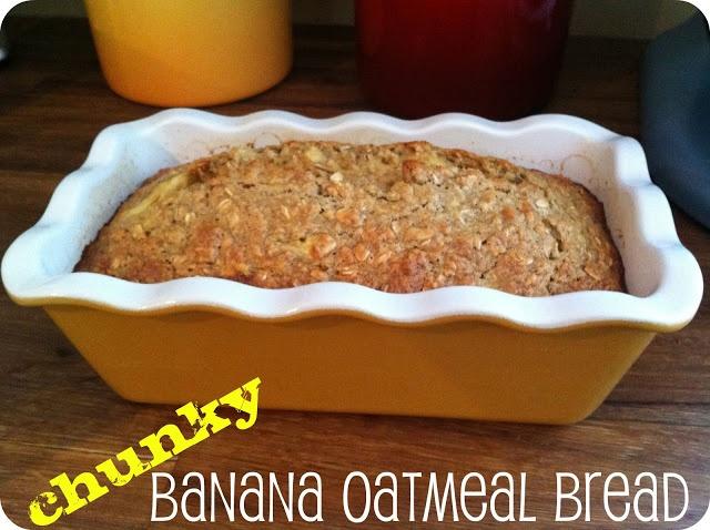 Warm Chunky Banana Oatmeal Bread | Food & Drink | Pinterest