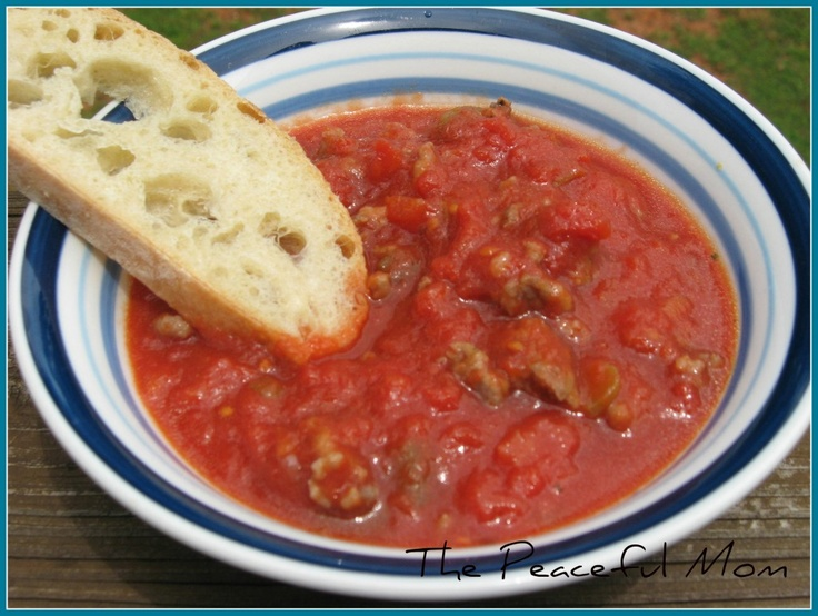 Easy Crock Pot Recipe: Italian Sausage Pasta Sauce from The Peaceful ...