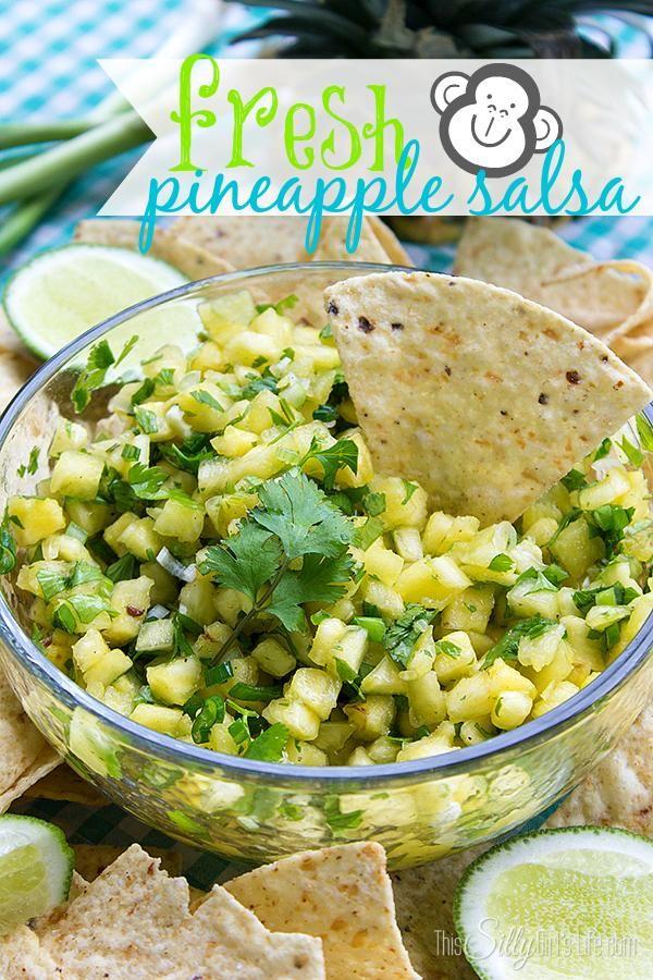 ... pineapple salsa via dana this silly girl s life # pineapple # salsa