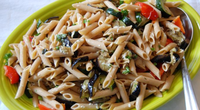 Katie Caldesi's Roasted Vegetable Pasta Recipe — Dishmaps