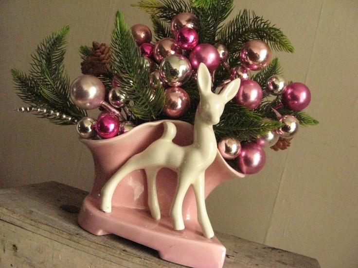 Pink Christmas arrangement