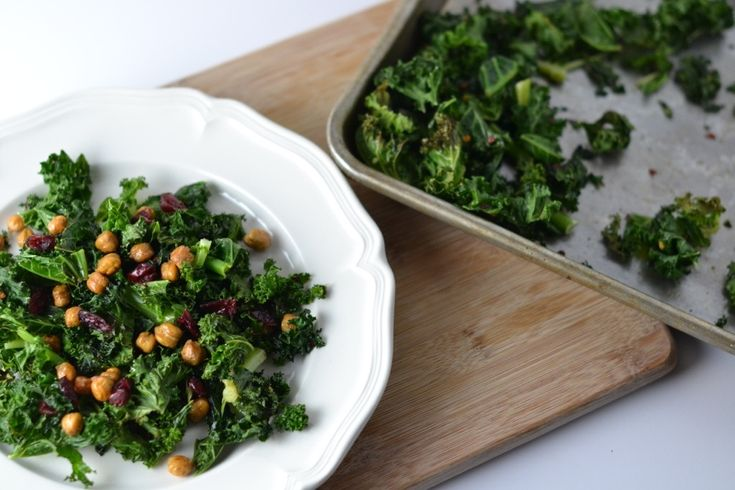 Crispy Kale and Chickpea Salad | FOOD | Pinterest