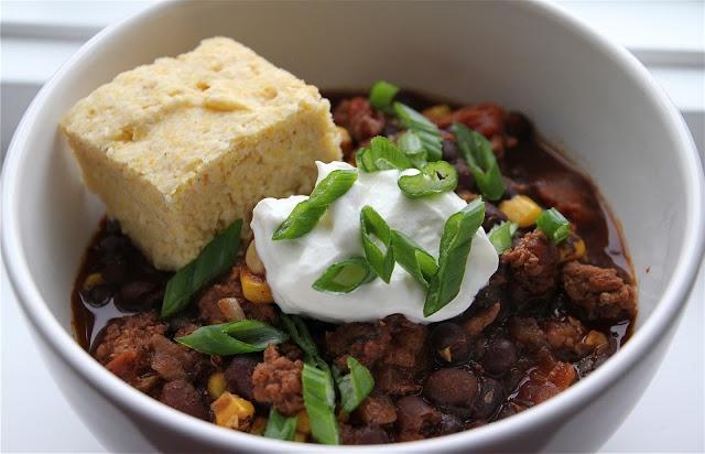 Turkey Black Bean Chili and Thai Chicken Corn Chowder Recipe - Chili ...