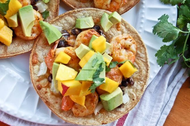 Shrimp and Black Bean Baked Tostadas-2 | I