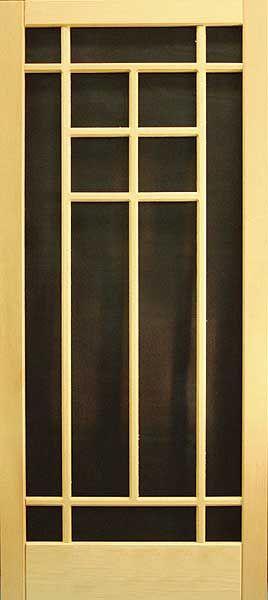 Wood Storm Doors with Screens