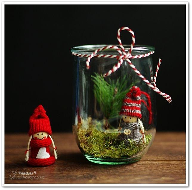 Weihnachtsdeko selbstmachen Deko im Glas  Winter und Weihnacht ** W ...