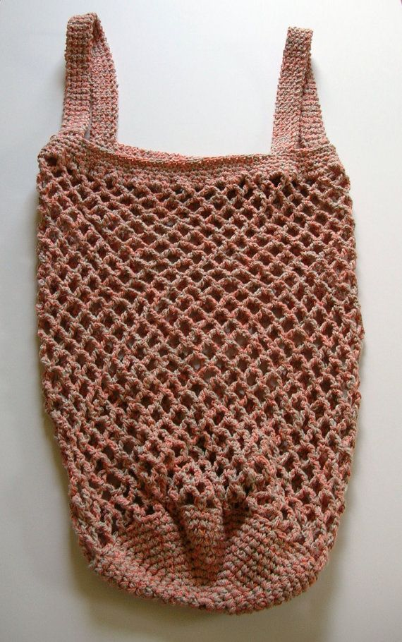 Crochet Cotton Market Bag Shopping Bag Beach Bag 100% Cotton Light Or ...