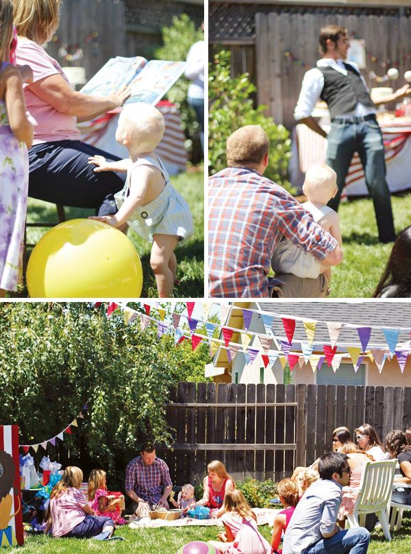 Big Backyard Party Ideas : Backyard Big Top Circus First Birthday Party