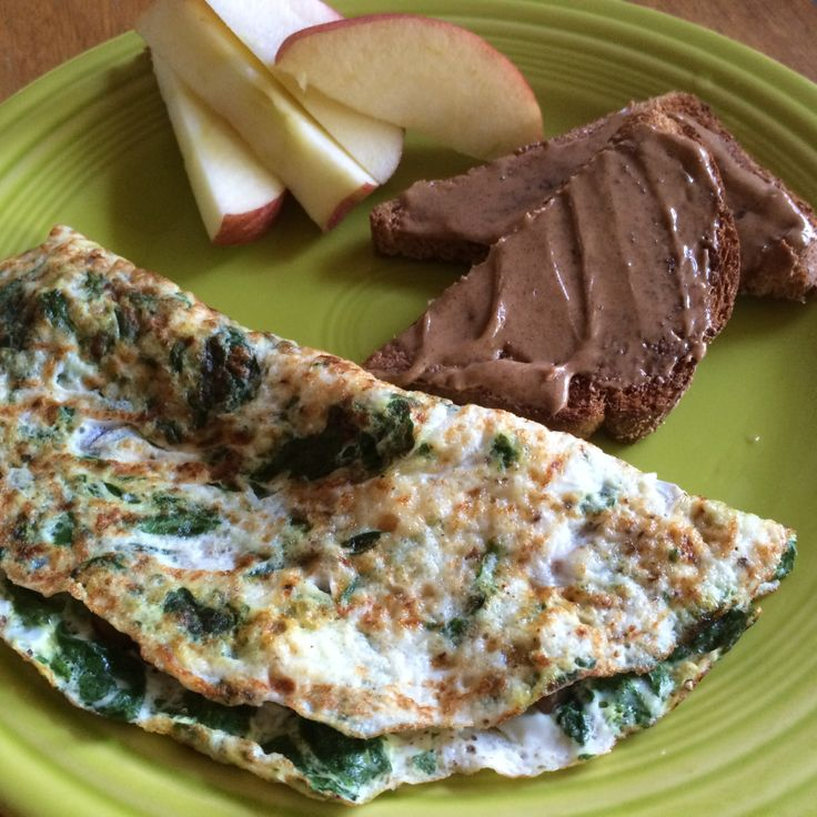 Egg White Omelet with Spinach, Grilled Mushrooms and Goat Cheese ...