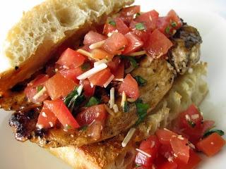 Chicken Gorgonzola Bruschetta Garlic Toast Recipe — Dishmaps