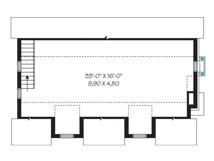 Drive Thru Garage Loft Plan 028g 0026 Home Pinterest