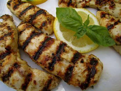 Grilled Lemon, Rosemary, & Basil Chicken Tenders