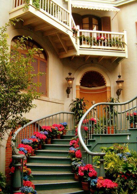 red handbag ooh i like  Staircases
