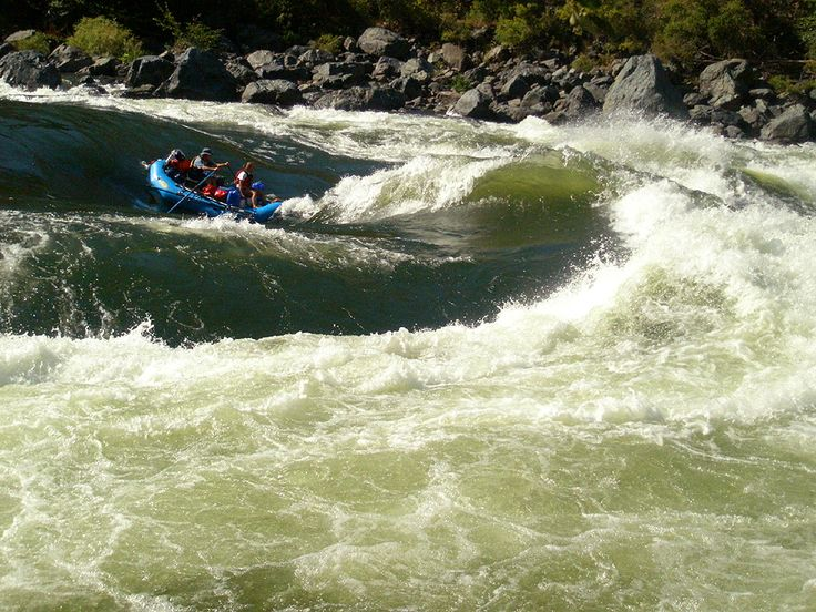 Rafting Hells Canyon - class IV Wild Sheep and Granite Rapids (yes, It is as terrifying as it looks!)