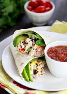 Mer's Kitchen Creations: Santa Fe Chicken Salad Wraps