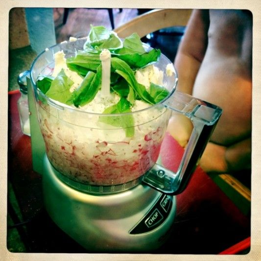 Basil, radish dip. | Stuff I wanna Eat! | Pinterest