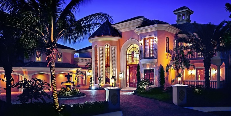 Miami Celebrity Island Dream Home Front Yard Pinterest
