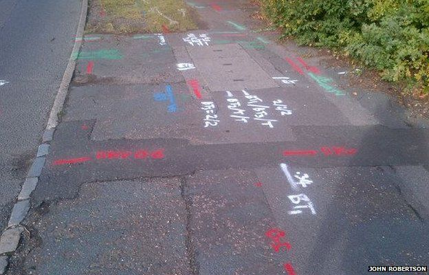 Your pavement squiggles decoded