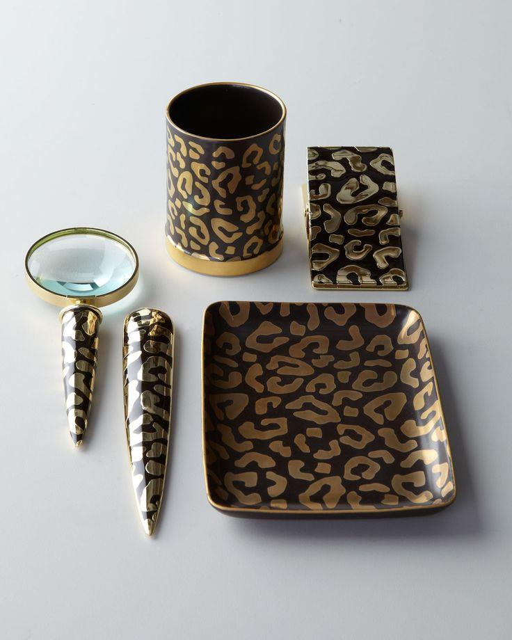 Leopard Print Desk Accessories Leopard Print Desk Accessories Werk Pinterest