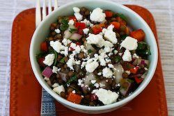 Joanne Weir's Green Lentil and Red Pepper Salad Recipe with Red Onion ...