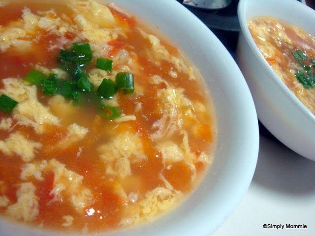 Tomato egg drop soup   Recipes   Pinterest