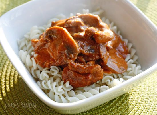 Mom's Beef Stroganoff - very yummy! I don't even like mushrooms, but ...