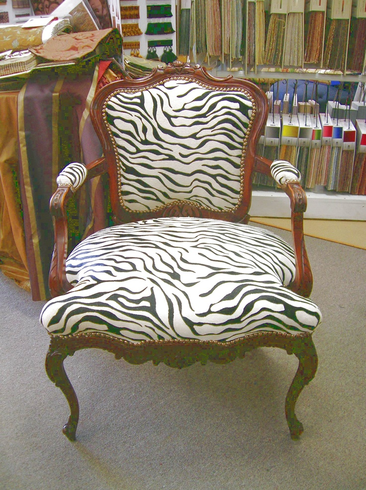 Zebra printed hair on hide chair c c leathers pinterest