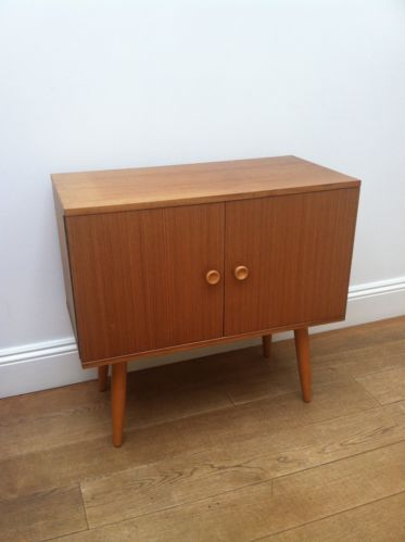Vintage danish style record cabinet from 1960s retro for Retro modern furniture