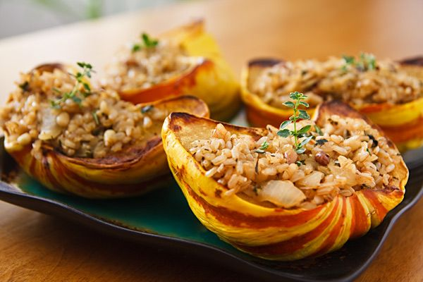Rice and Pecan-Stuffed Squash - Read More at Relish.com The recipe ...