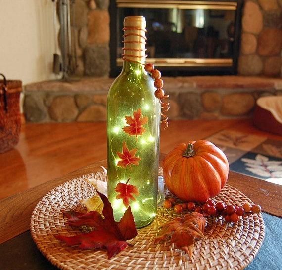 Thanksgiving wine bottle  Wine Glasses & Bottles  Pinterest