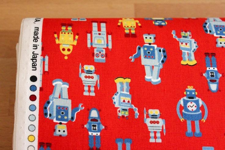 Robot fabric computer robot quilt pinterest for Robot quilt fabric