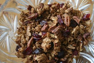 Pecan-Orange Granola with Dried Cranberries//Just Wee Girls in the ...