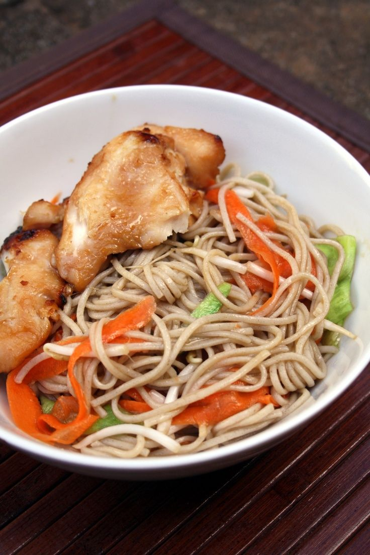 Teriyaki Chicken With Soba Noodle Salad: Easy and healthy dinner idea.