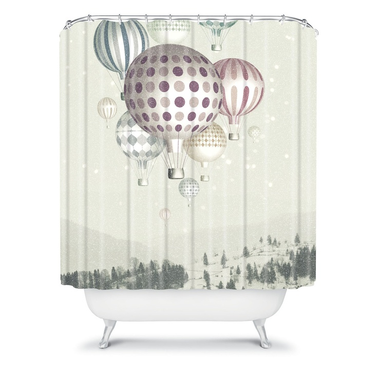 Belle13 winter dreamflight shower curtain